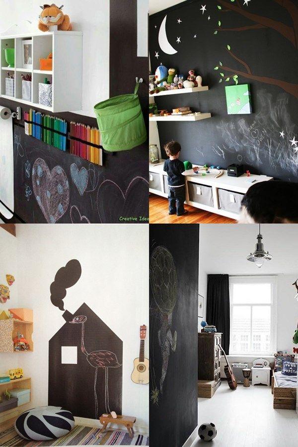 Quarto de criança: ideias com quadro-negro! Children's bedroom: ideas with blackboard!