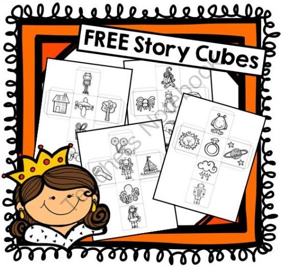 FREE Story Cubes from EasyPeasyLemonSqueezy on TeachersNotebook.com -  (6 pages)  - ncludes 4 story cubes Use as writing prompts or have students take turns rolling the dice and add to a class story!