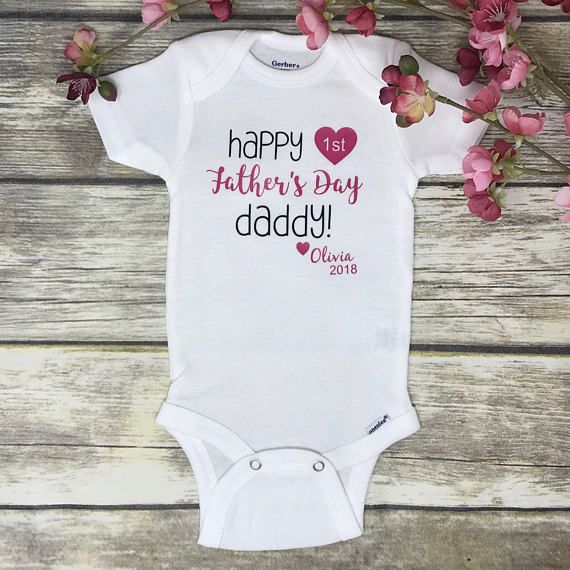 30390d876 Happy Fathers Day Onesie, Baby Girls Fathers Day Onesie, Girls Fathers Day  Bodysuit, Fathers Day One | Products | Onesies, Fathers day gifts, First  fathers ...