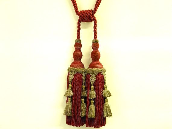 35% discount Red and Gold Curtain double tassel by Eleptolis