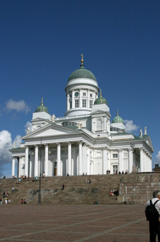 Cathedral of Helsinki along Senate Square.
