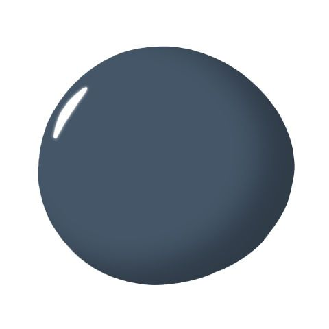 Newburyport Blue paint from Benjamin Moore is subtle but strong enough to make any room cozy elegant.