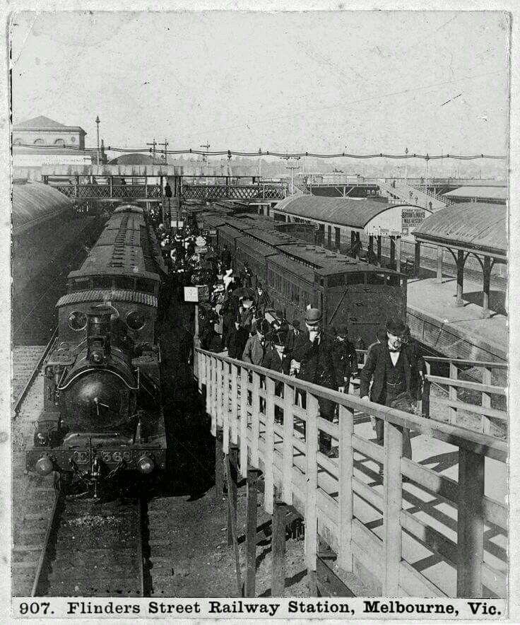 Flinders Street Station in Melbourne in 1890.