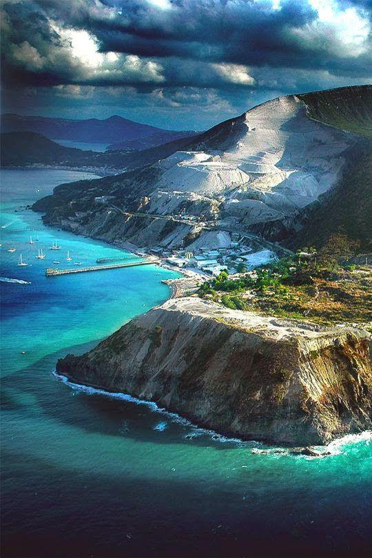 Lipari is the largest of the Aeolian Islands in the Tyrrhenian Sea, Sicilia, Italia