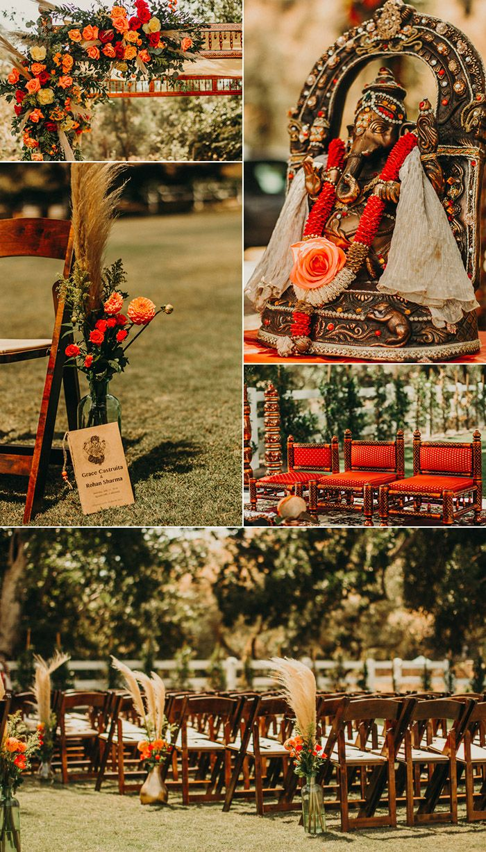 This Couple Infused Southern California Style Into Their Traditional Indian Wedding at Brookview Ranch