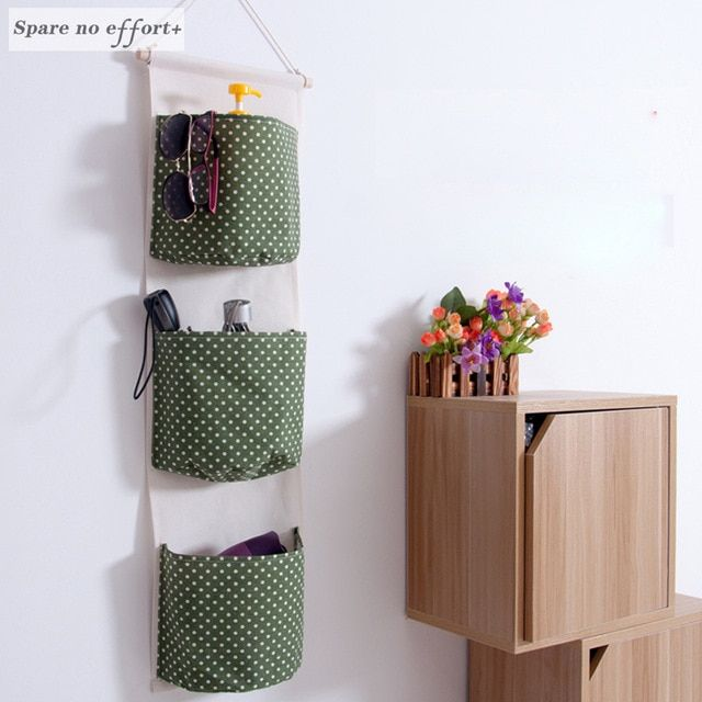 Hanging Storage Bag 3 Pockets Hanging Organizer With Pockets Home Storage Organizer Organizadores De T Japanese Style Bathroom Hanging Organizer Diy Home Decor