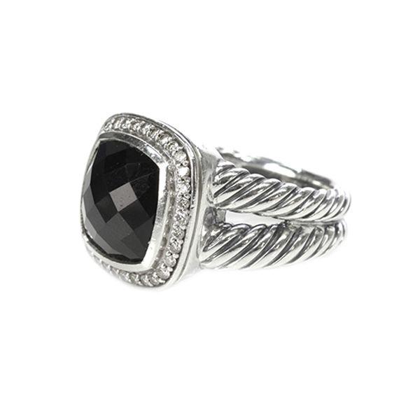 david yurman sterling silver black onyx u0026 diamond albion ring