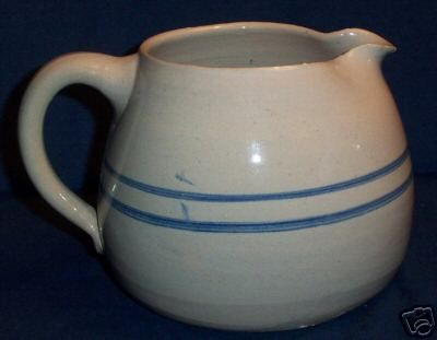 Vintage Primitive Country POTTERY PITCHER Marshall TX