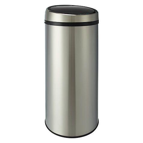 Buy John Lewis Sensor Bin, Brushed Steel, 42L Online at johnlewis.com