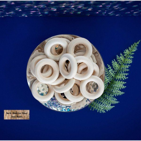 """1-1/2"""" Toss Rings – North American Wood Bead Supply"""