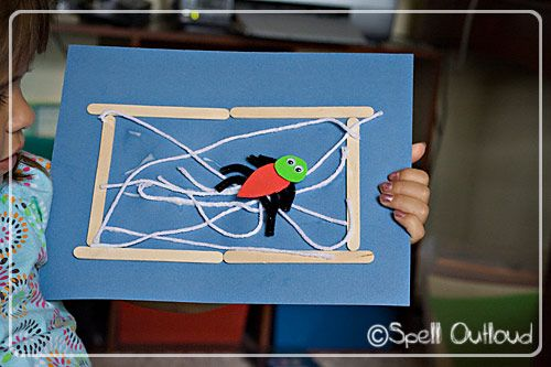 Spider Project to to with Eric Carle's the The Very Busy Spider #crafts