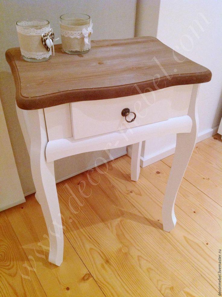 Купить Тумбочка столик белая - тумбочка, тумба, столик, приставной столик, для спальни, для дома и интерьера