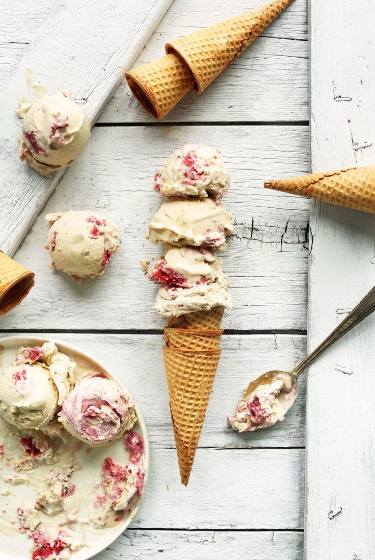 Raspberry Ripple Coconut Ice Cream - Minimalist Baker