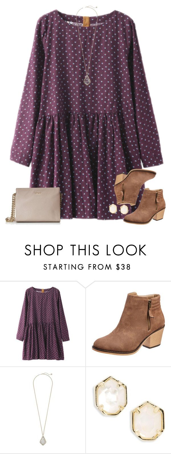"""Watching The Voice"" by classyandsassyabby ❤ liked on Polyvore featuring Kendra Scott, Kate Spade, PolkaDots, booties and kendrascott"