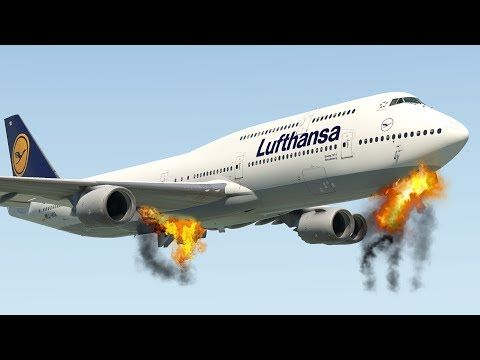 Lufthansa Boeing 747-8 Emergency Landing Without Any Landing Gear