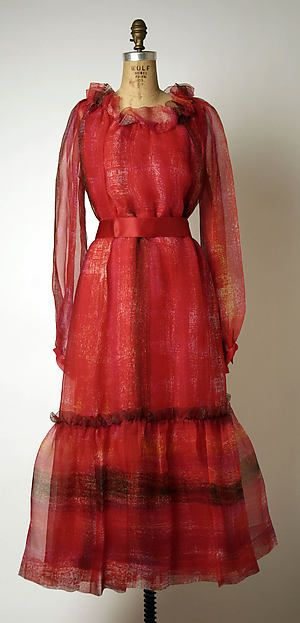 Evening dress Design House: House of Givenchy (French, founded 1952) Designer: Hubert de Givenchy (French, born Beauvais, 1927) Date: ca. 1976 Culture: French Medium: silkEvening dress