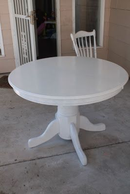 Pinterest and the Pauper!: How to Refinish a Table, No Sanding!