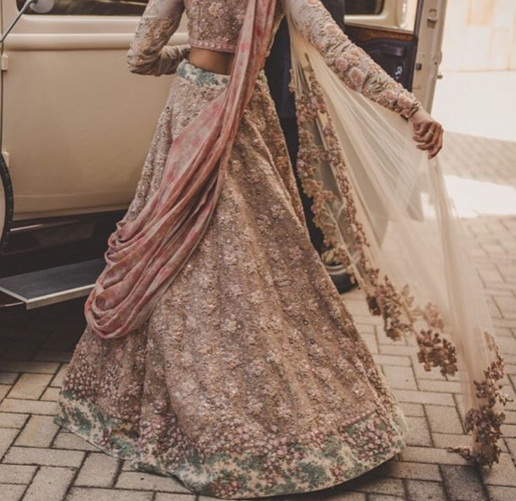 Pastel Indian Bridal Lehenga