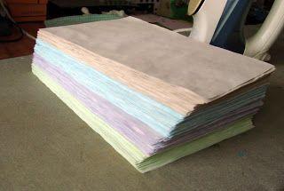 Кулинарный блокнот и МК по окраске бумаги