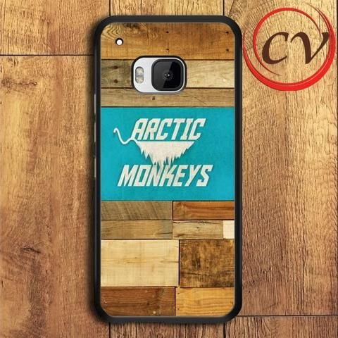 Wood Arctic Monkey Band HTC One M9 Black Case