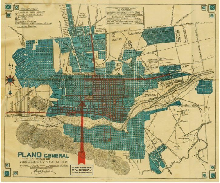 Monterrey — An Entirely Different Face of Mexico | El ... |Old Monterrey Mexico Map