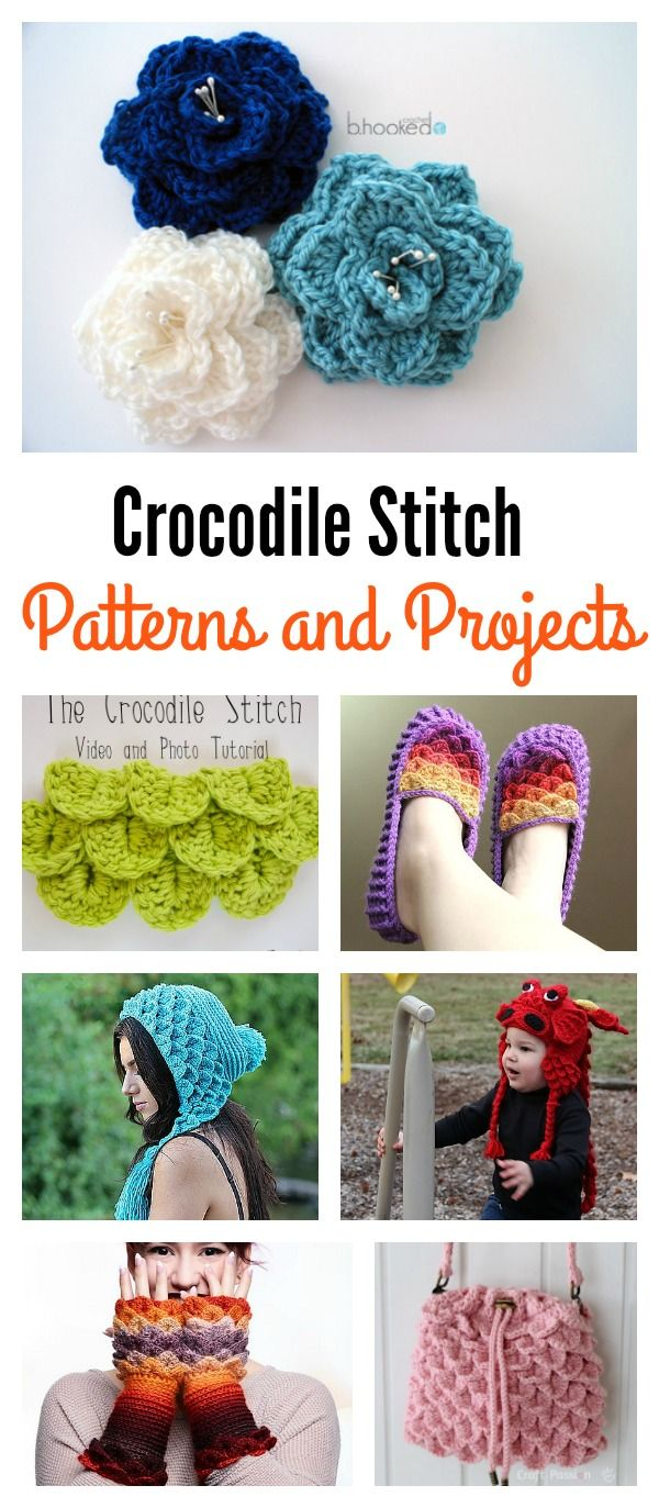 Crochet Beautiful Crocodile Stitch Crochet Patterns and Projects