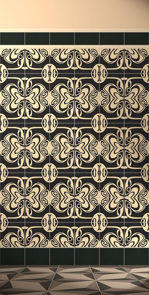 golem kunst und baukeramik gmbh verlegebeispiel f 131r. Black Bedroom Furniture Sets. Home Design Ideas