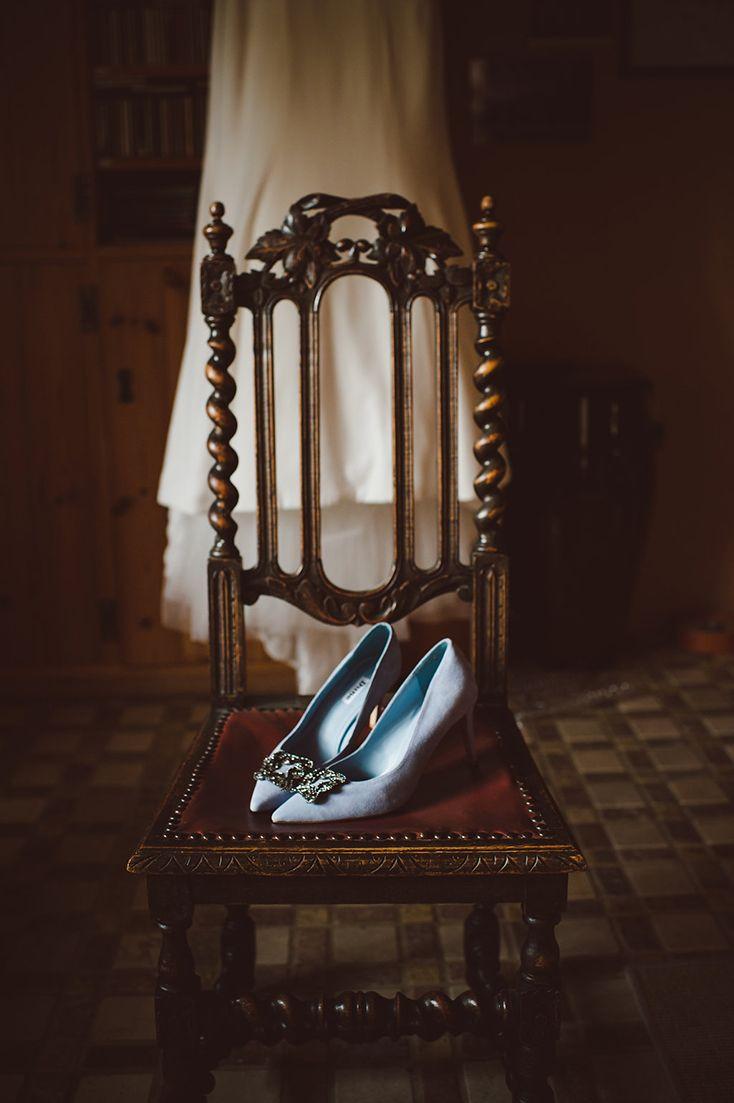 Something blue - Dune buckle bridal shoes