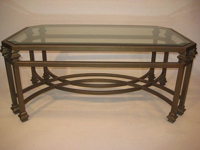 glass top coffee table with wrought iron legs woodworking projects plans. Black Bedroom Furniture Sets. Home Design Ideas