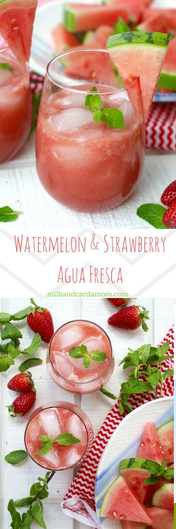 Watermelon & Strawberry Agua Fresca