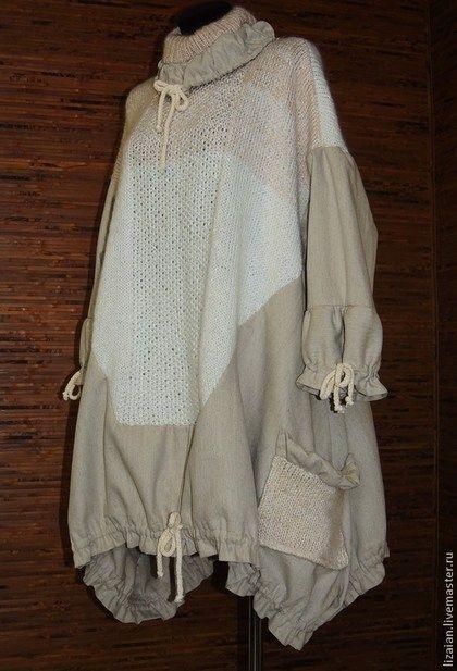 Пончо ручной работы. Ярмарка Мастеров - ручная работа Зимнее платье-пончо в стиле бохо. Handmade.