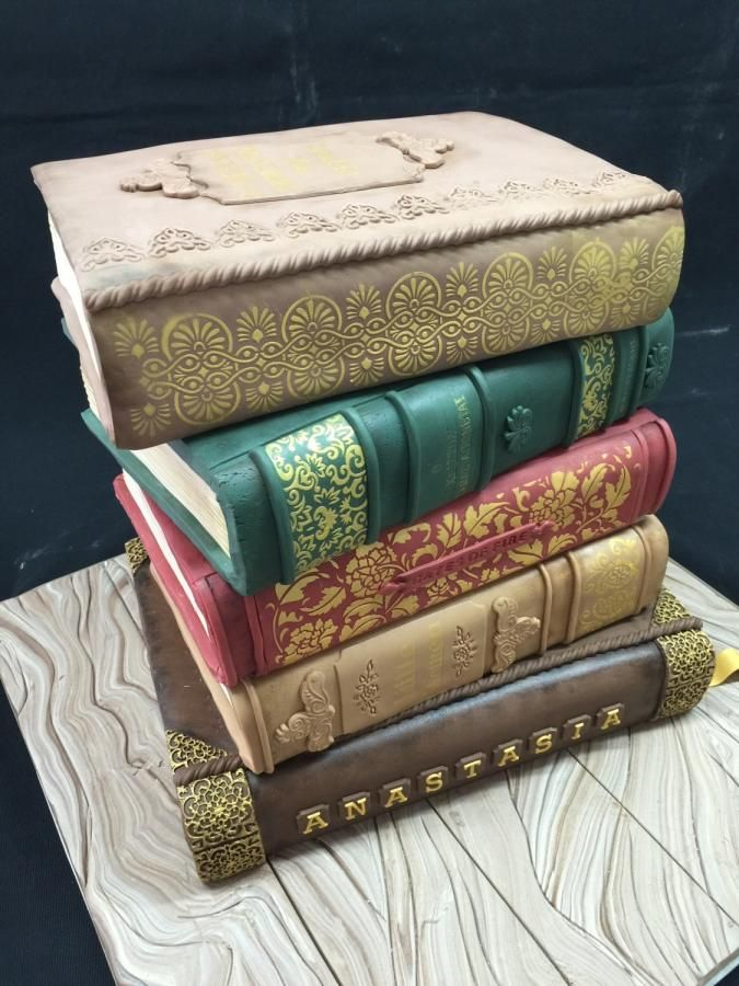 Vintage books cake - Cake by Galatia
