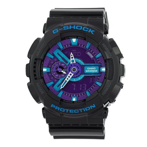 4. G-SHOCK The GA 110 Hypercolor Watch in Black,Watches for Unisex