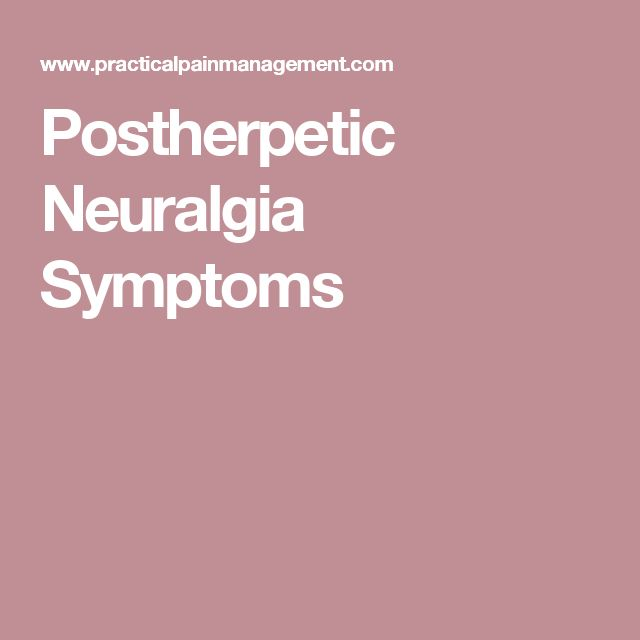 Postherpetic Neuralgia Symptoms