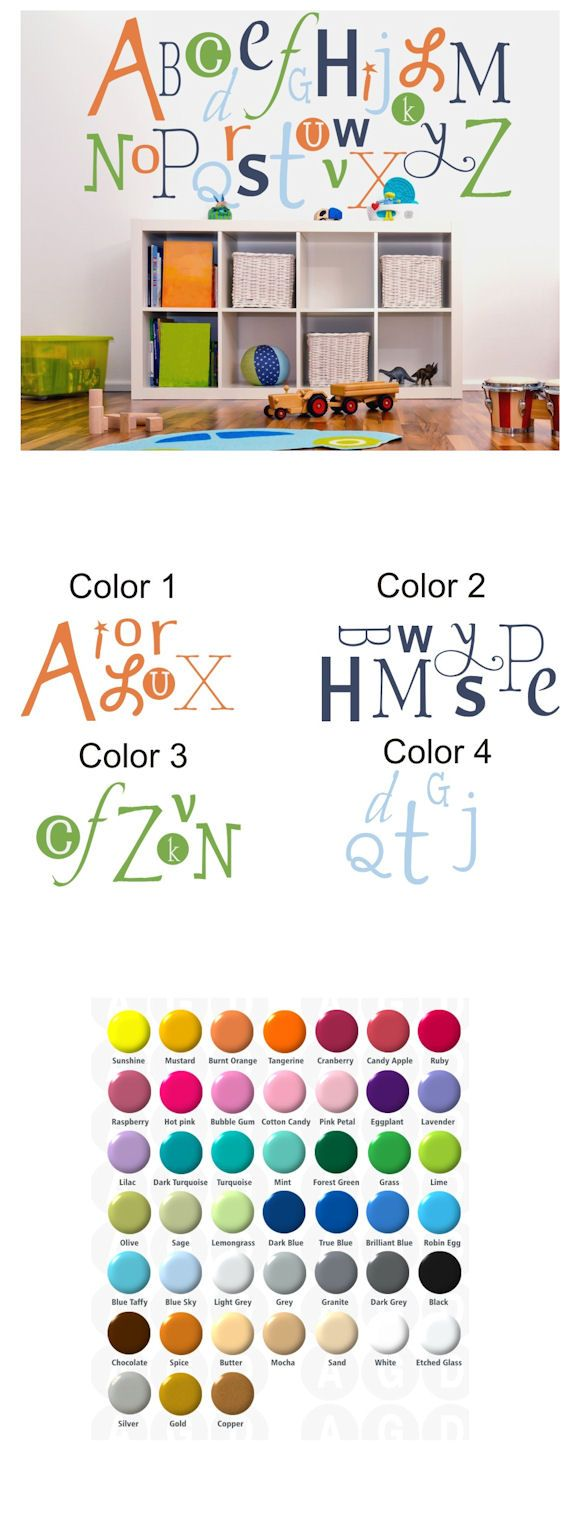 Alphabet Customized Wall Sticker Decal - Wall Sticker Outlet