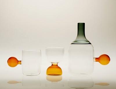 Contemporary Glass | Incalmi || Water carafe and glasses (design chiara onida; maker jochen holz)