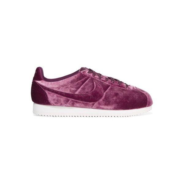 Nike - Classic Cortez Premium Sneakers Aus Samt - Burgunder