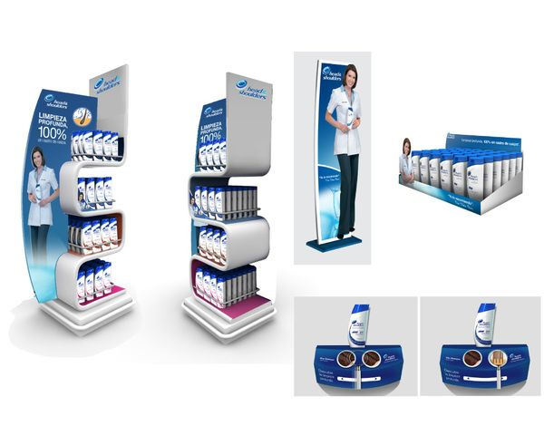 Point of Purchase Design | POP Design | POS Design | Health & Beauty POP | Pinned by sharkskindesign.com