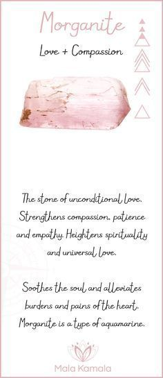 What is the meaning and crystal and chakra healing properties of morganite? A stone for love and compassion with similar properties to rose quartz.