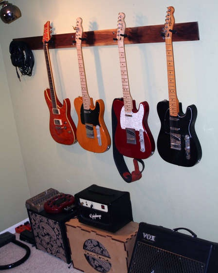 diy guitar wall hanger