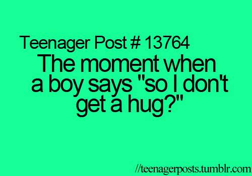 hahahahha it's funny because it never happens. haha. :')