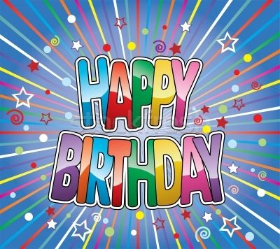 happy birthday greeting on colorful background vector vector ...