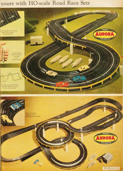 slot cars race track set