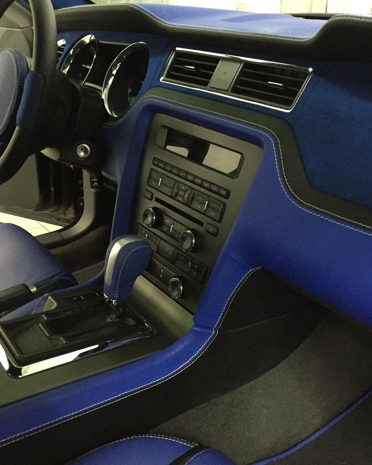 Ford Mustang Black And Blue Custom Interior