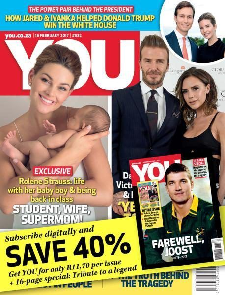 David Beckham and Victoria Beckham Rolene Strauss cover You Magazine [South Africa] (16 February 2017)  http://ift.tt/2kvLEGC