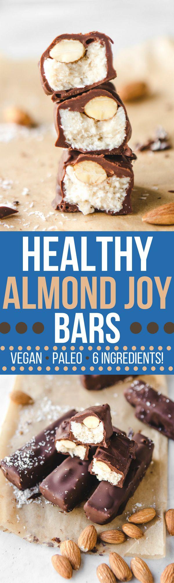 pinterest image of almond joy bars