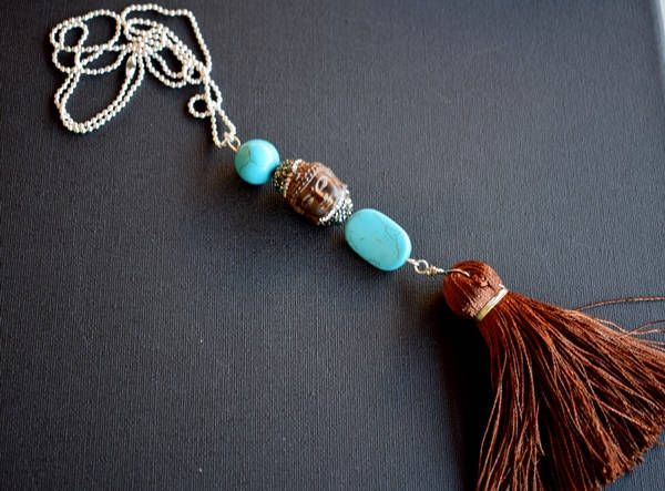 Hippie necklace.Bohemian Necklace.Mariella's Code. by mariellascode on Etsy