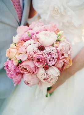 floral, bouquet, bouquets, hot pink, light pink, peach, peony, pink, rustic, Spring, diy, flowers, wedding, High Falls , New York