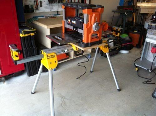 Mounting a Ridgid planer on a DeWalt miter saw stand