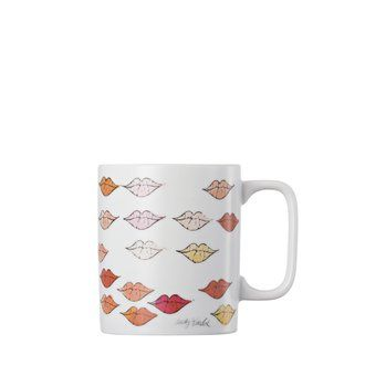 Warhol Lips Mug with handle - Thje lips of Marylin Monroe - Andy Warhol got the kiss just right..